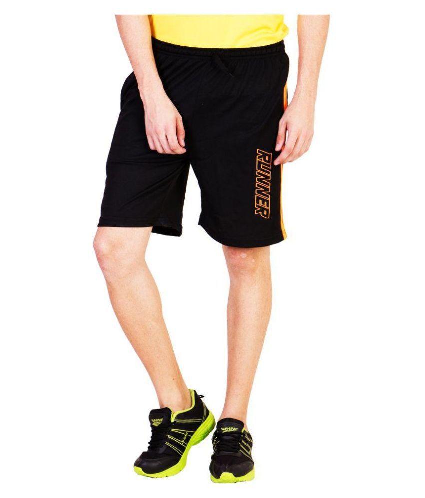 Bexter Black Cotton Shorts