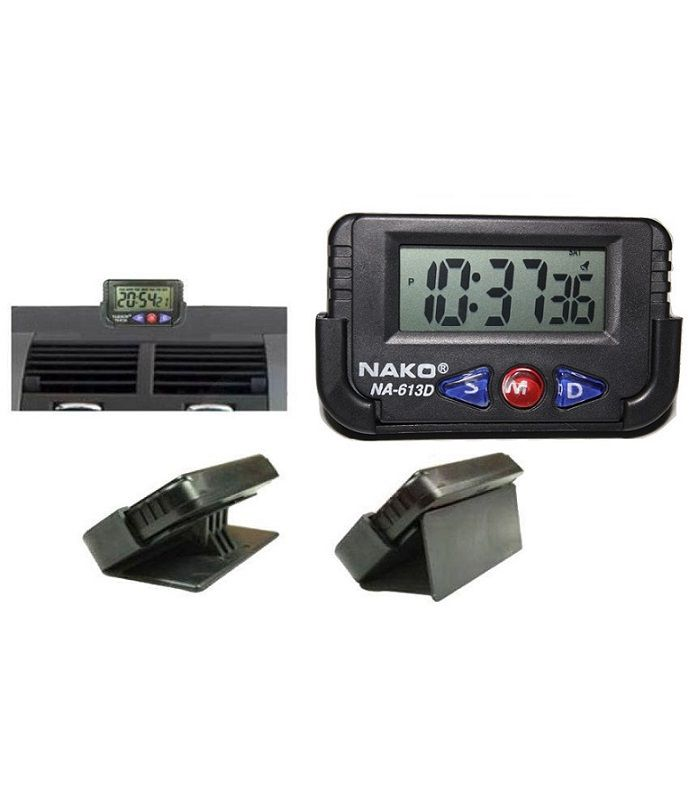 Dashboard Ac Vent Digital Clock Black Available At