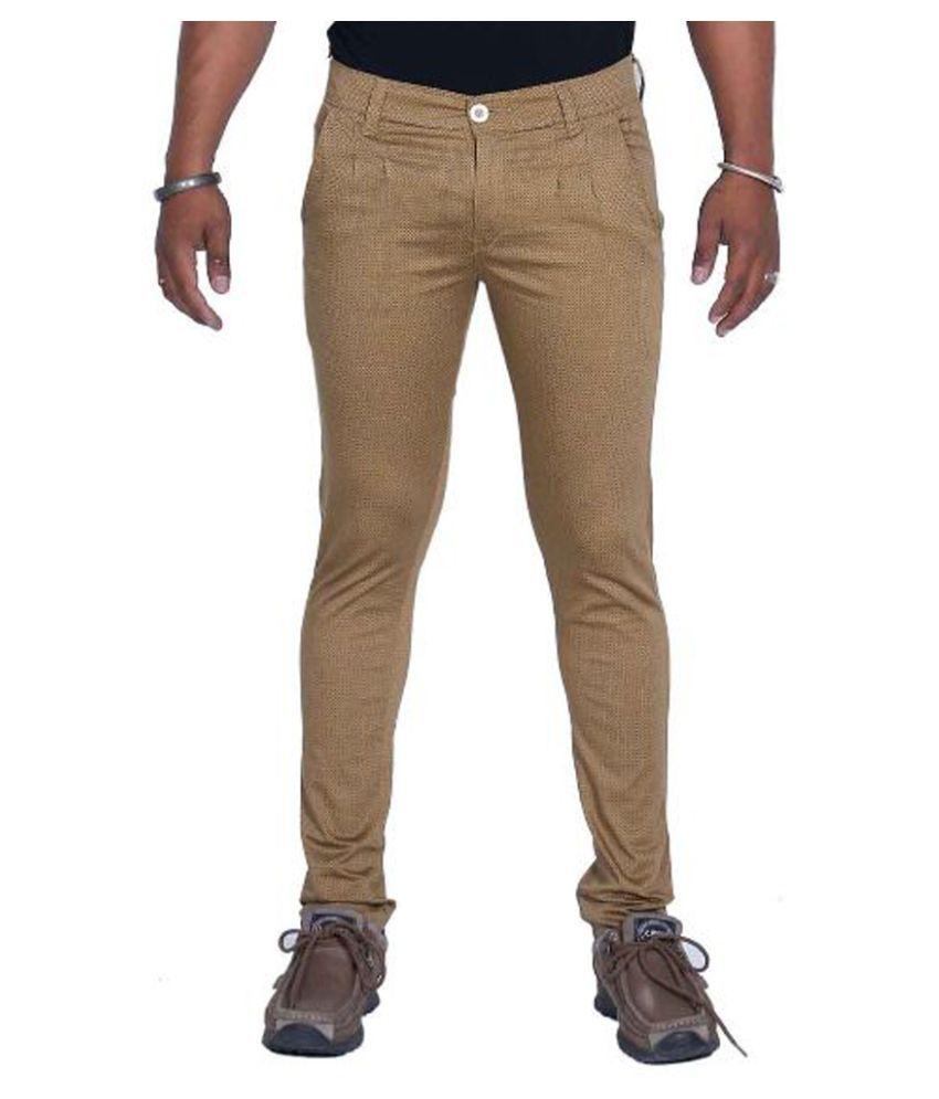 Bows & Arrows Beige Regular Fit Solid Jeans