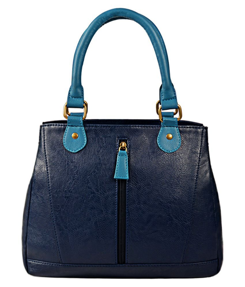 Bagsy Malone Blue Faux Leather Handheld