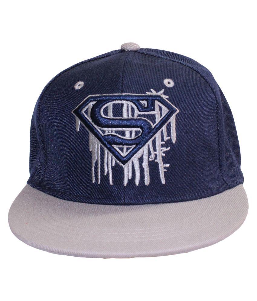 Air Fashion Navy Cotton Baseball Cap for Men