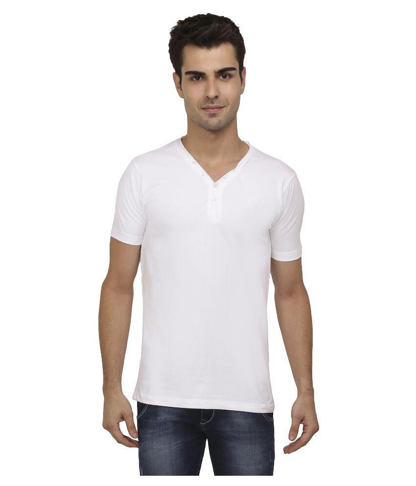 Aliep White Henley T Shirt