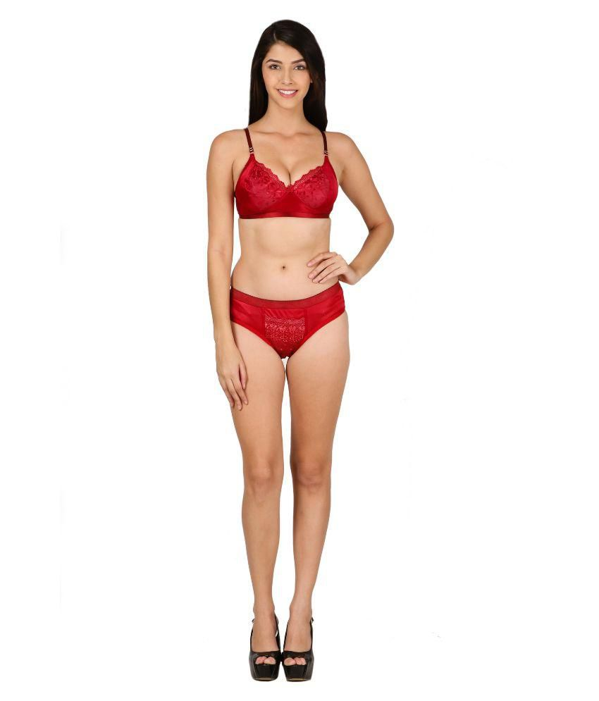 2374384e1e Buy Theoowls Maroon Satin Bra   Panty Sets Online at Best Prices in India -  Snapdeal