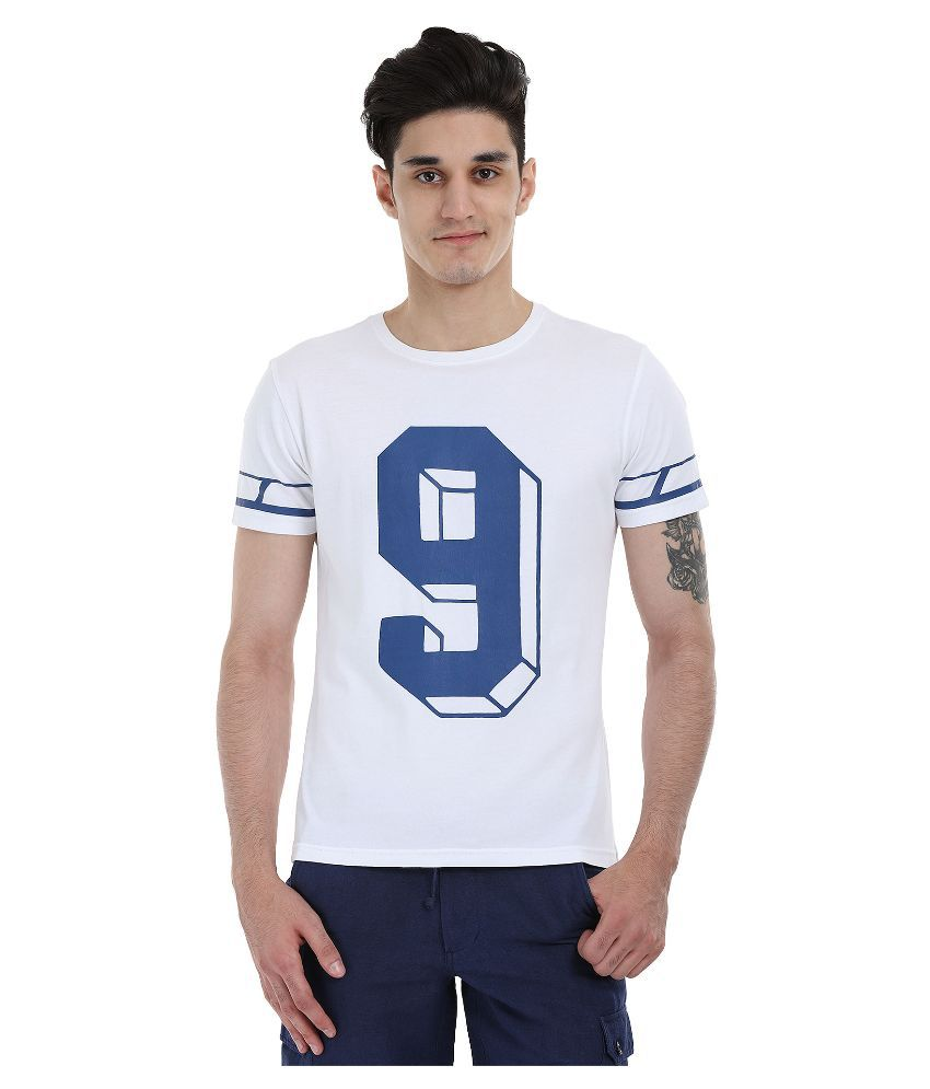 Zobello White Round T Shirt