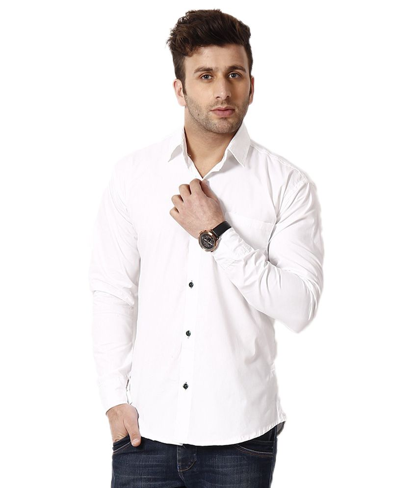 CB Fashion White Formal Slim Fit Shirt