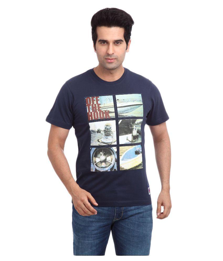 Parx Blue Round T Shirt