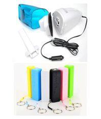 Shopper52 Combo of Car Vacuum Cleaner and Power Bank (2600mAh)