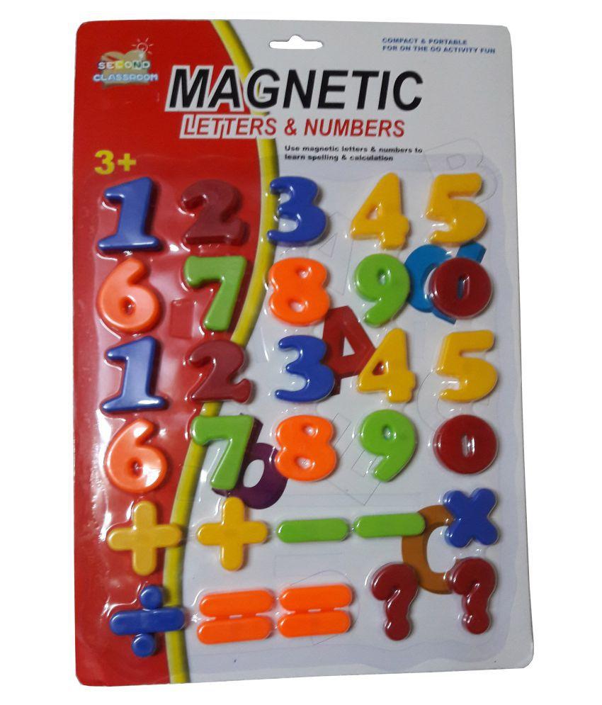 S G International Mutlicolour Plastic Magnetic Lettters & Numbers