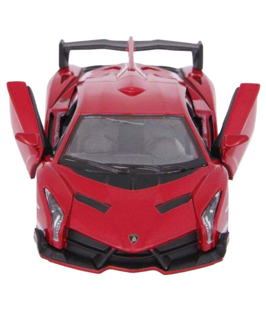 Kinsmart Red Die Cast Metal Lamborghini Veneno Toy Car Buy