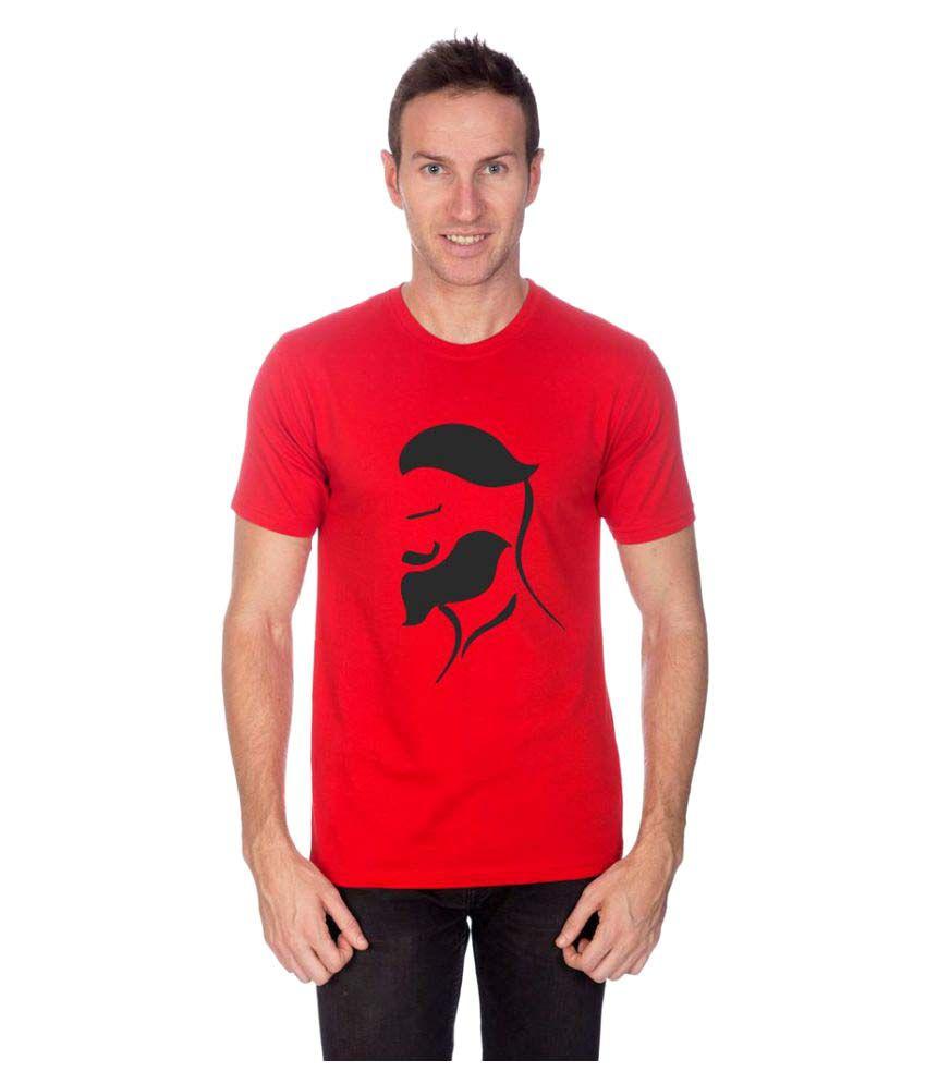 Artist Red Round T-Shirt