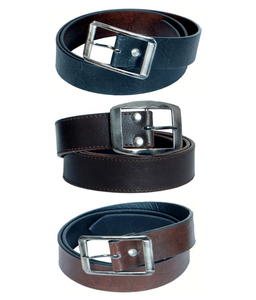Kvell Be Proud Black Faux Leather Formal Belts