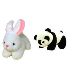 Deals India Combo Of Multicolour Rabbit Soft Toy And Panda Soft Toy