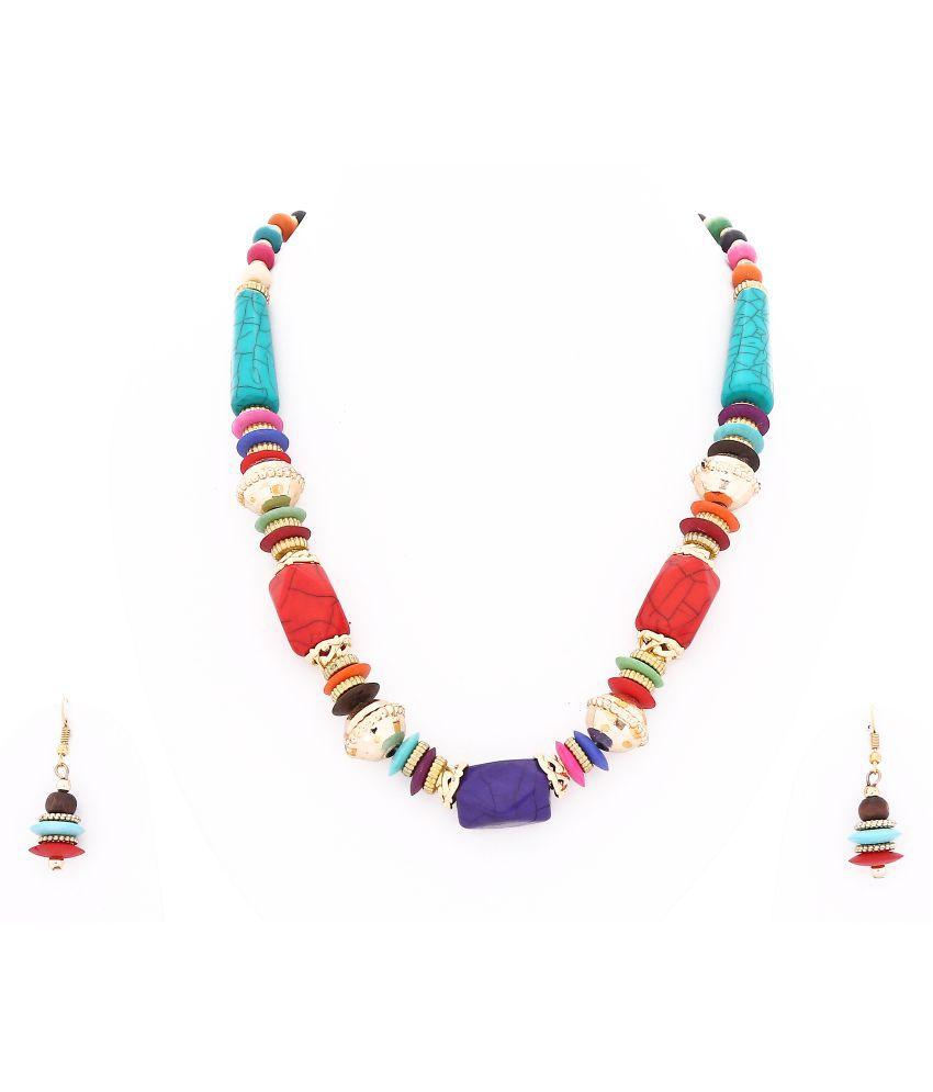 Reddock Multicolour Necklaces Set