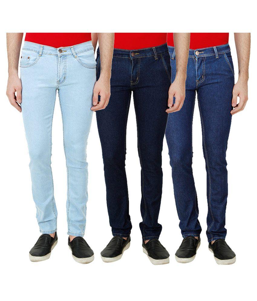 Ansh Fashion Wear Blue Regular Fit Solid