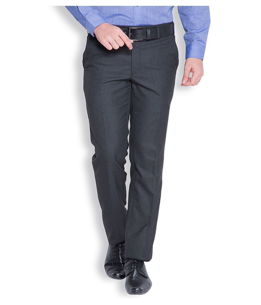 Black Coffee Black Regular Flat Trouser