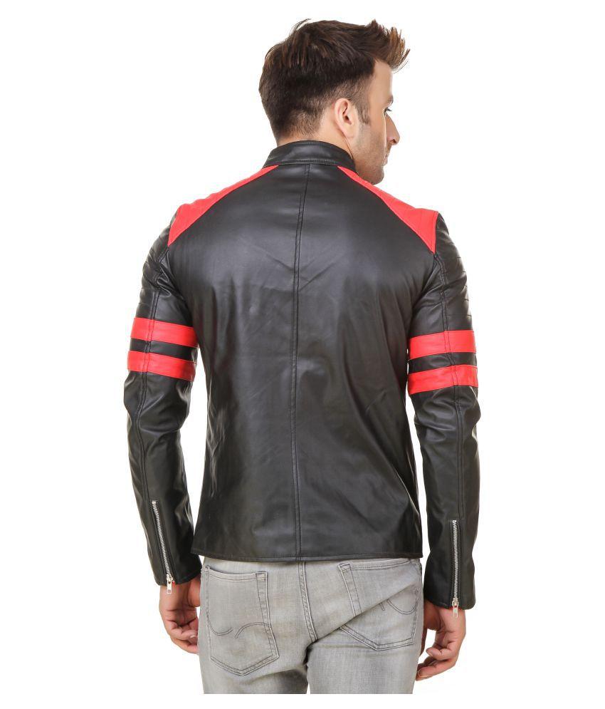 Leather jacket india -  Moonbella Black Leather Jacket