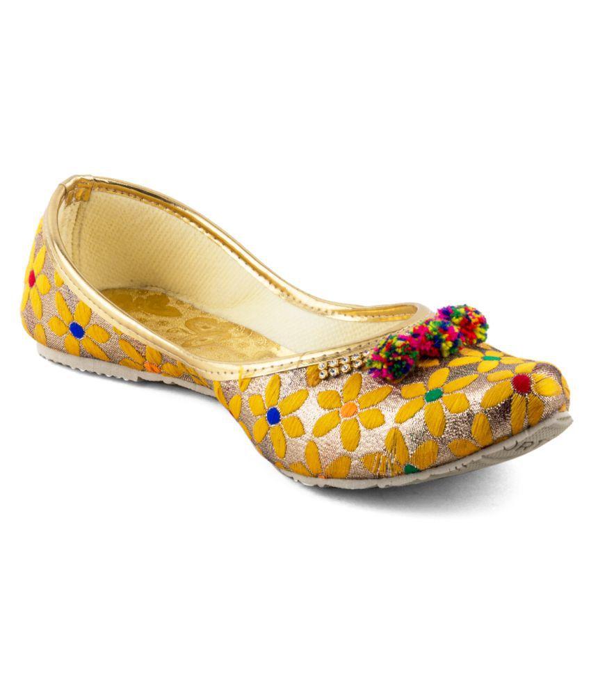 Tashi Multi Color Flat Ethnic Footwear