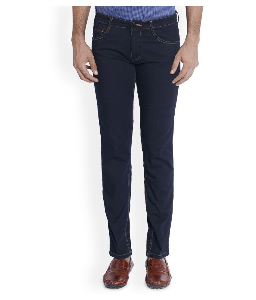 Raymond Navy Blue Regular Fit Solid