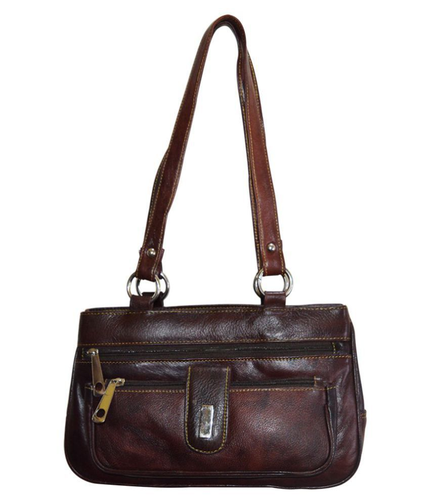 Adbeni Brown Pure Leather Handbags Accessories - Buy Adbeni Brown ...