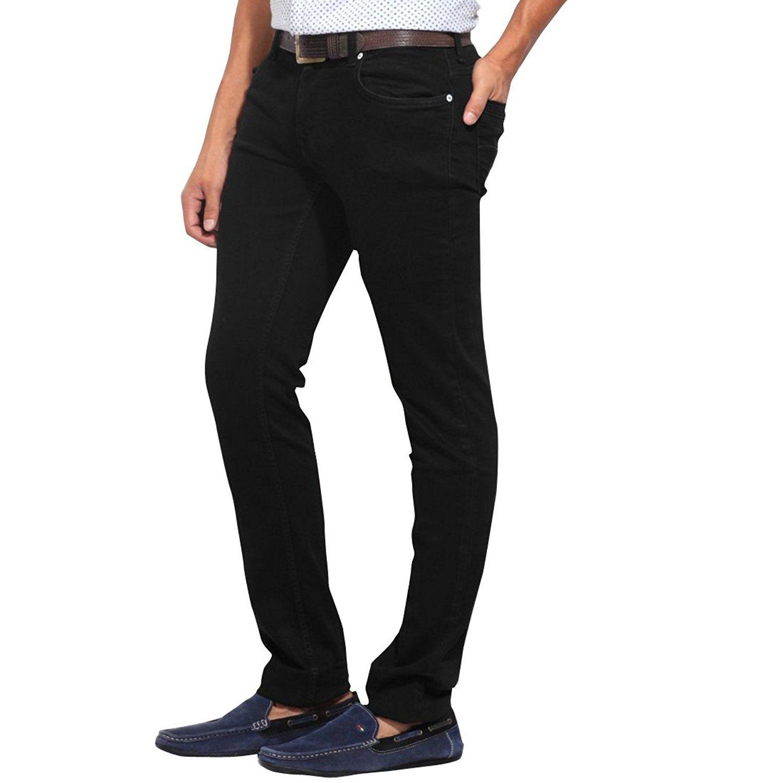 Stylox Black Cotton Jeans