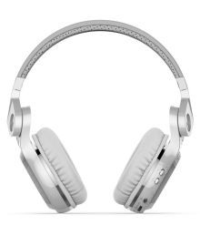 Bluedio T2 Plus Bluetooth Headphones Over Ear Wireless Headphones With Mic White
