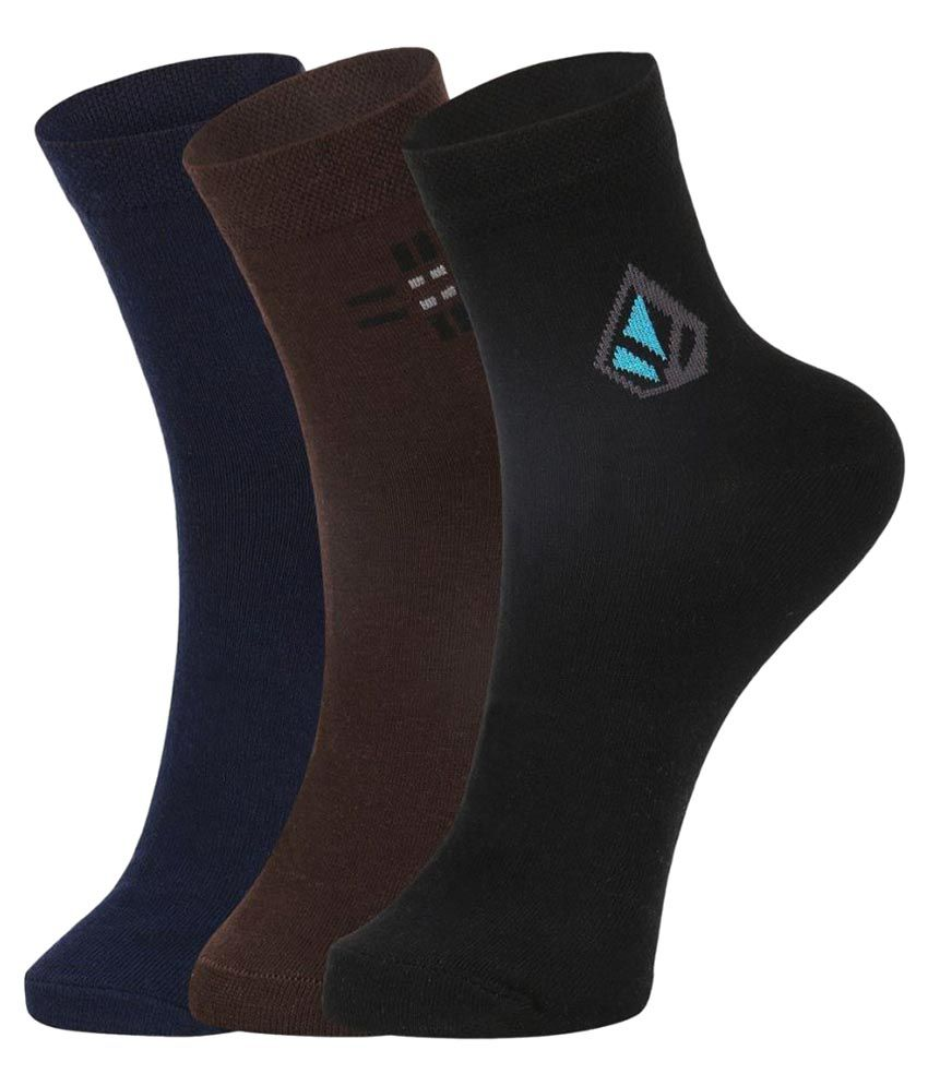 Dukk Multi Formal Ankle Length Socks