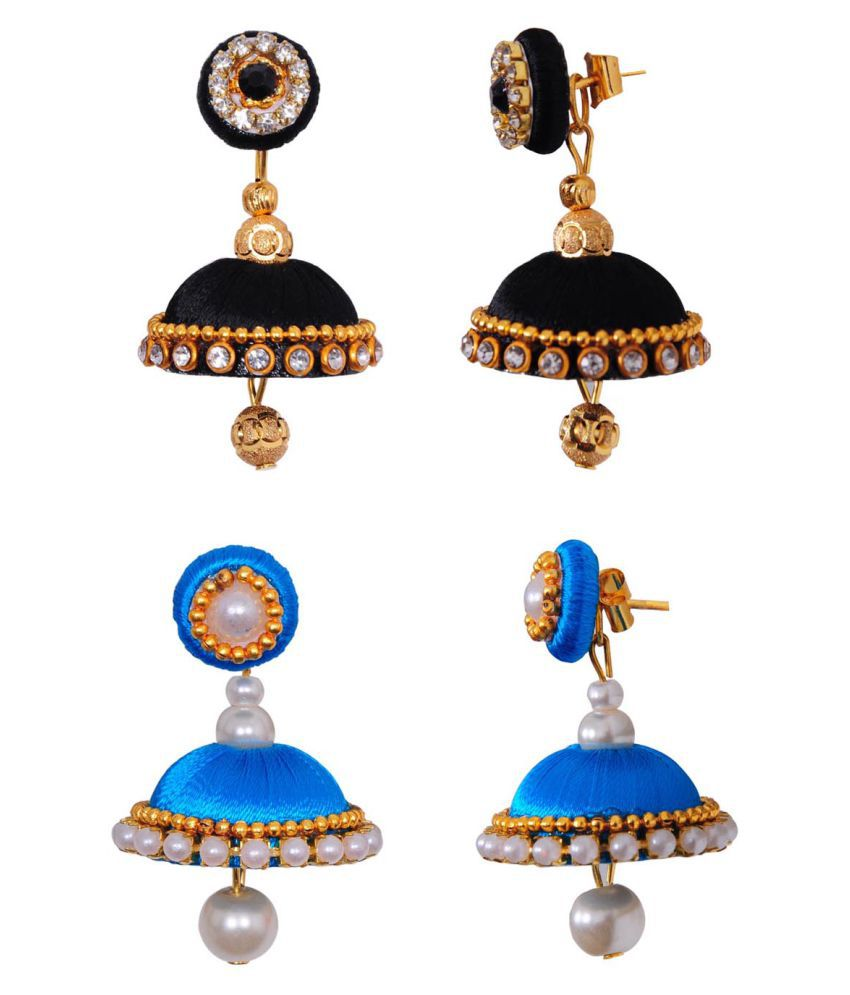 RK City Shopping Multicolor Jhumkis - Set of 2
