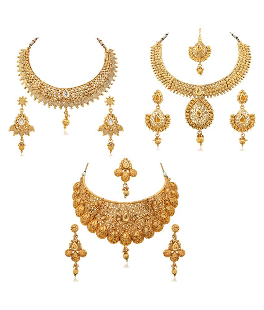 product jewels dwarkesh golden gn necklace