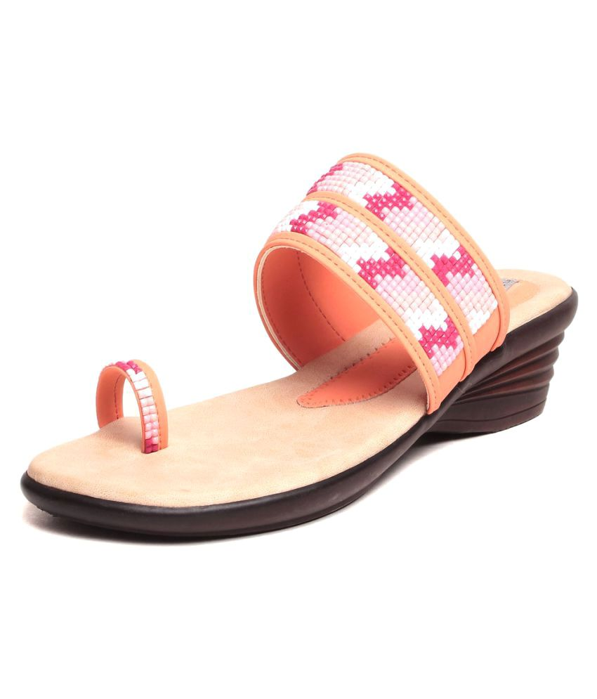 Feel It Pink Wedges Heels