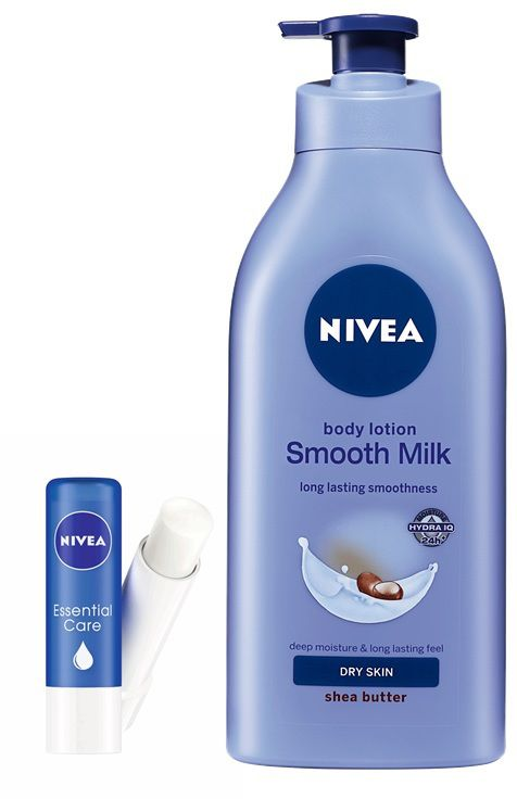 NIVEA Smooth Milk Body Lotion 400ml + NIVEA Essential Lip Balm By Snapdeal @ Rs.345