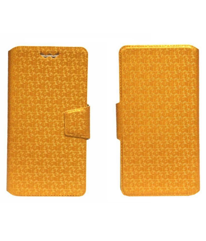 Intex Aqua Craze Flip Cover by Jojo - Golden