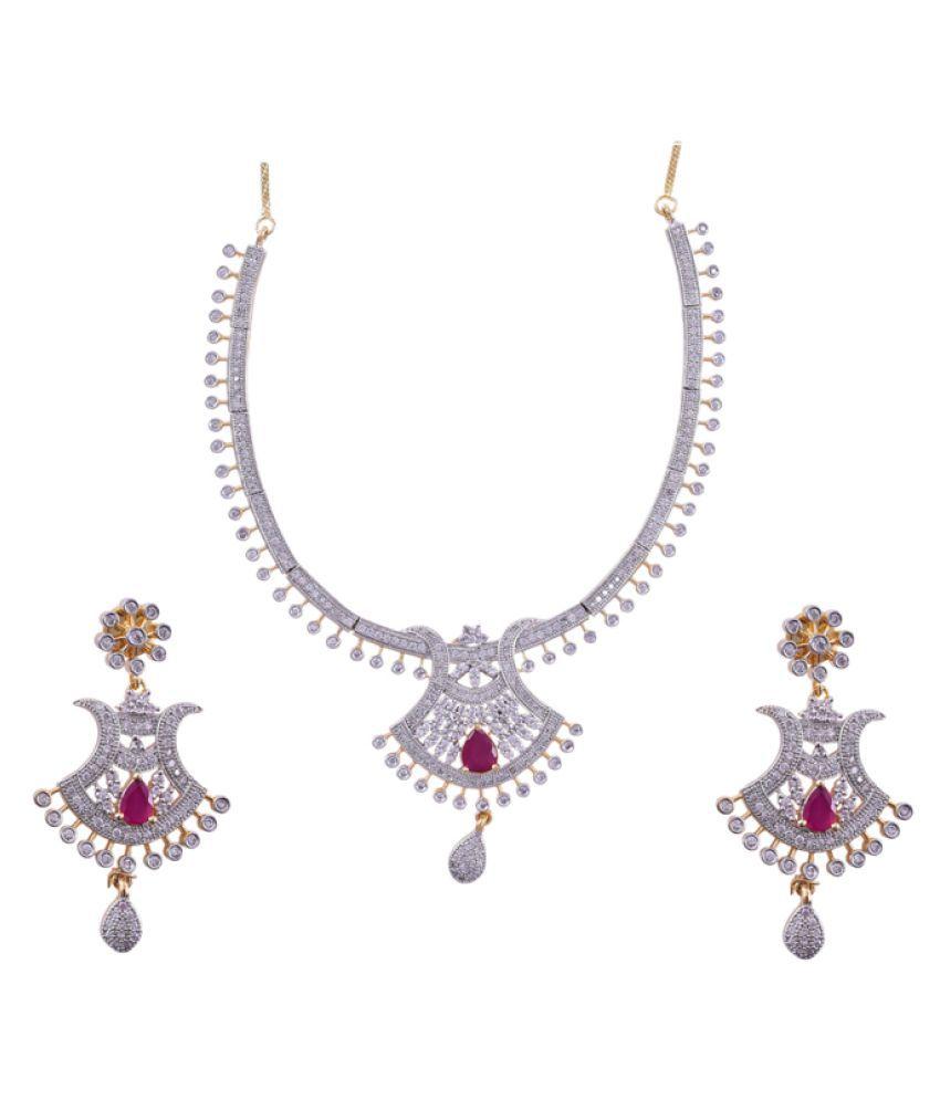 JR ANI White Necklace Set
