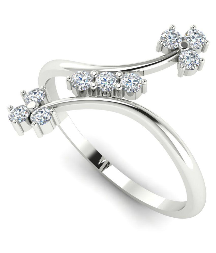 Astrum Diamonds 18k BIS Hallmarked White Gold Ring