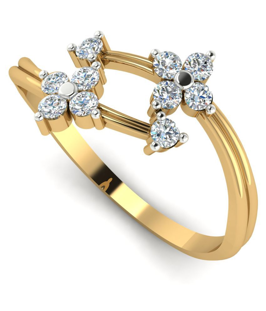 Astrum Diamonds 18k Yellow Gold Ring