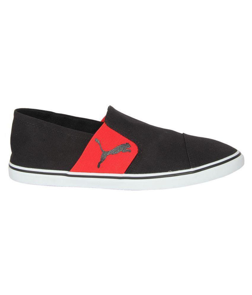 b97d762edacbbf ... Puma MEN BLACK SHOES Elsu v2 Slip On IDP Sneakers Black Casual Shoes ...