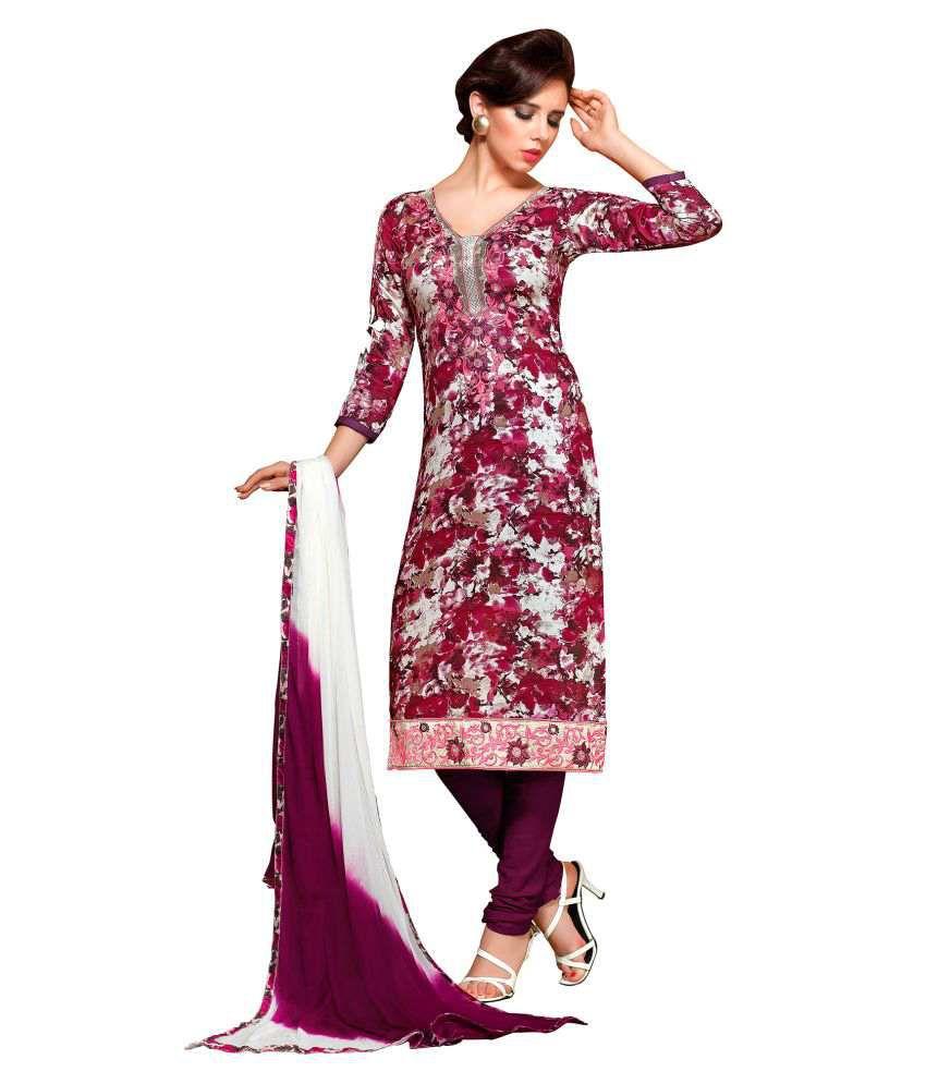 Blissta Multicoloured Cotton Dress Material