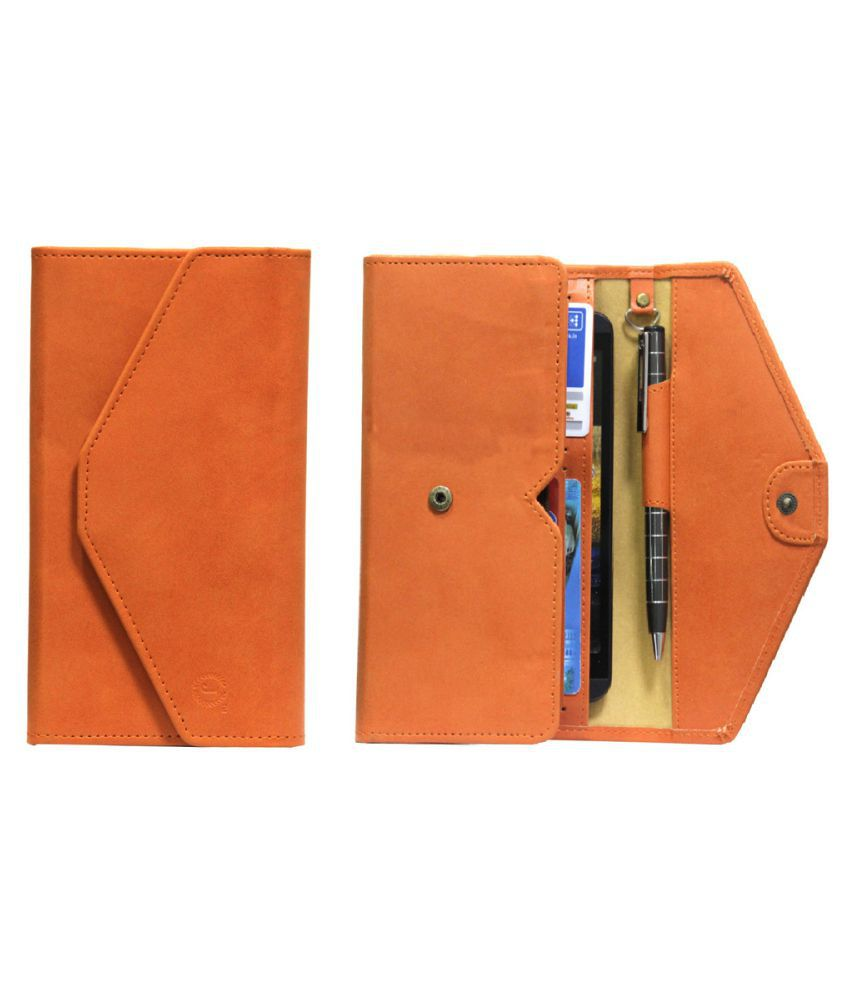 Intex Aqua Y4 Holster Cover by Jojo - Orange