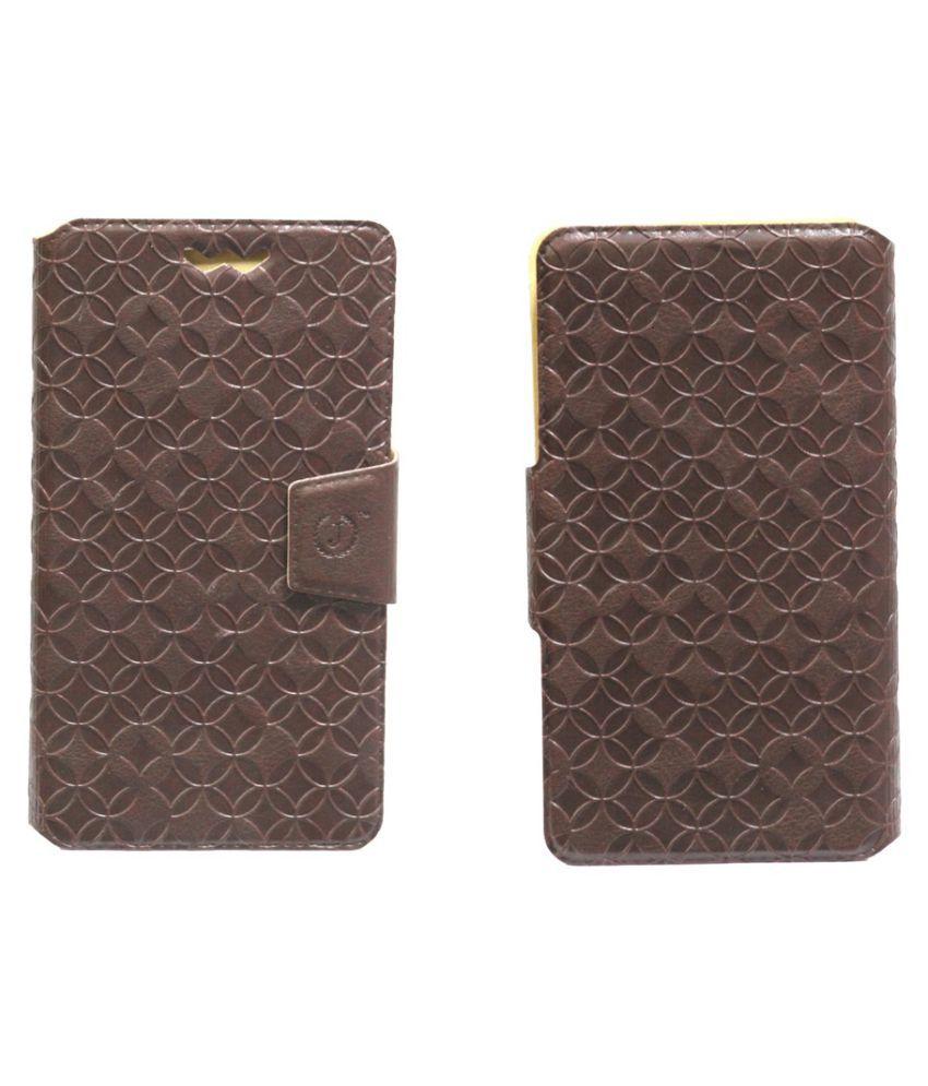Karbonn Titanium S7 Flip Cover by Jojo - Brown