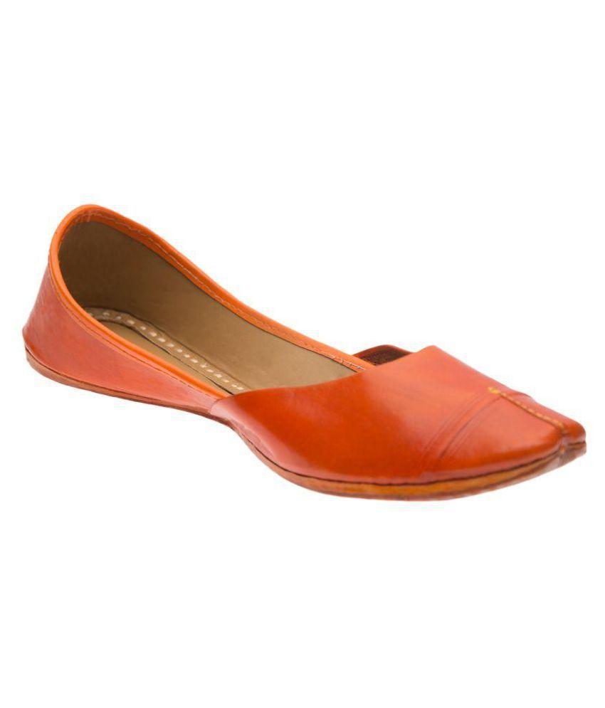 Ramayana Orange Flat Ethnic Footwear