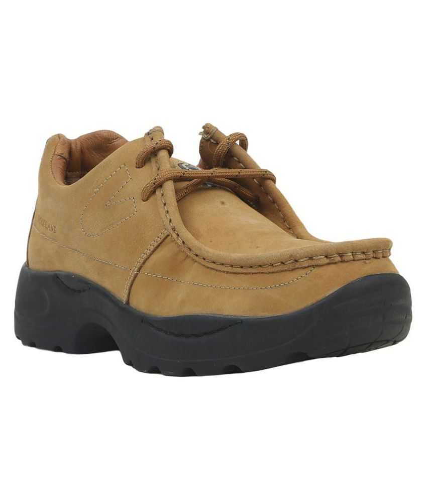 Woodland G 4035Y15-Camel Outdoor Beige Casual Shoes ...