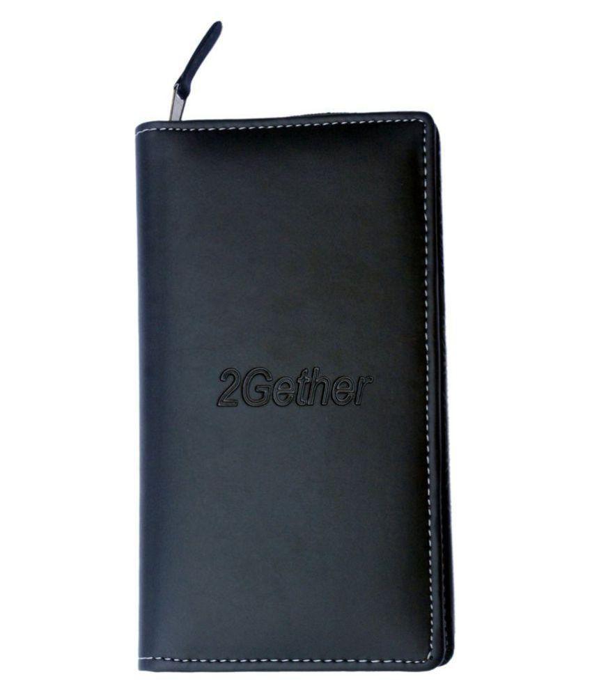 Sukeshcraft 2gether series P.U. Black Passport Holder