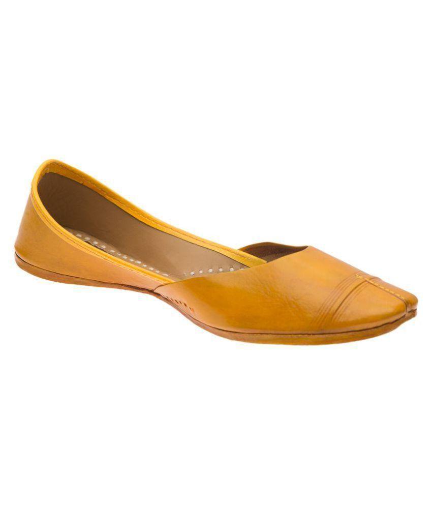 Ramayana Yellow Flat Ethnic Footwear