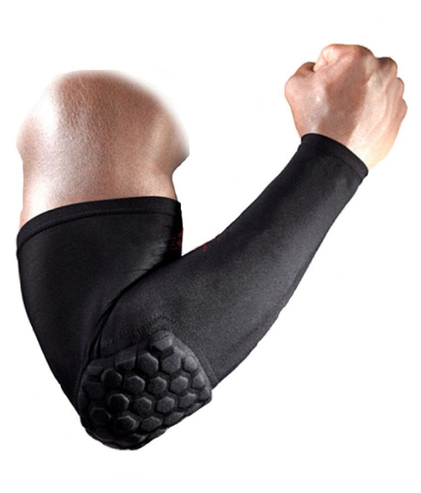 b70c0a44eb Futaba Black Basketball Arm Sleeve Elbow: Buy Online at Best Price on  Snapdeal
