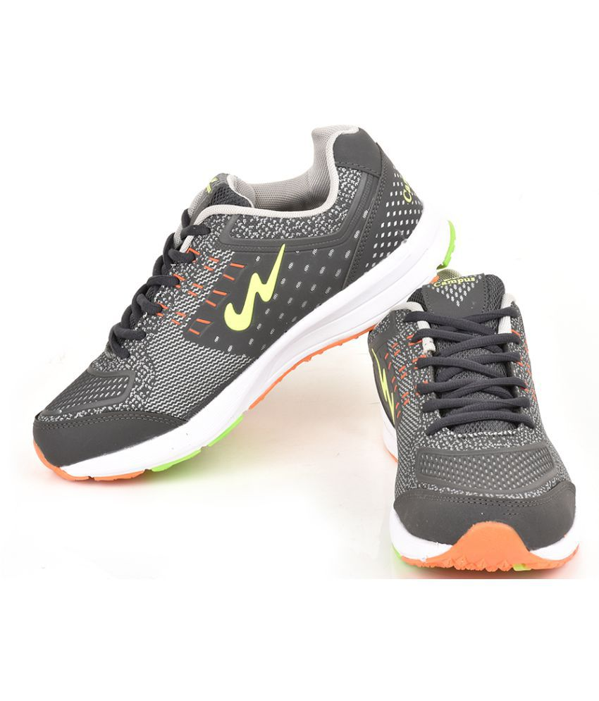 ... Campus KNIT-TECH Gray Running Shoes ...