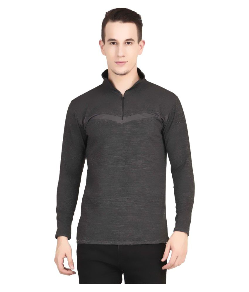 Tinted Grey High Neck T-Shirt