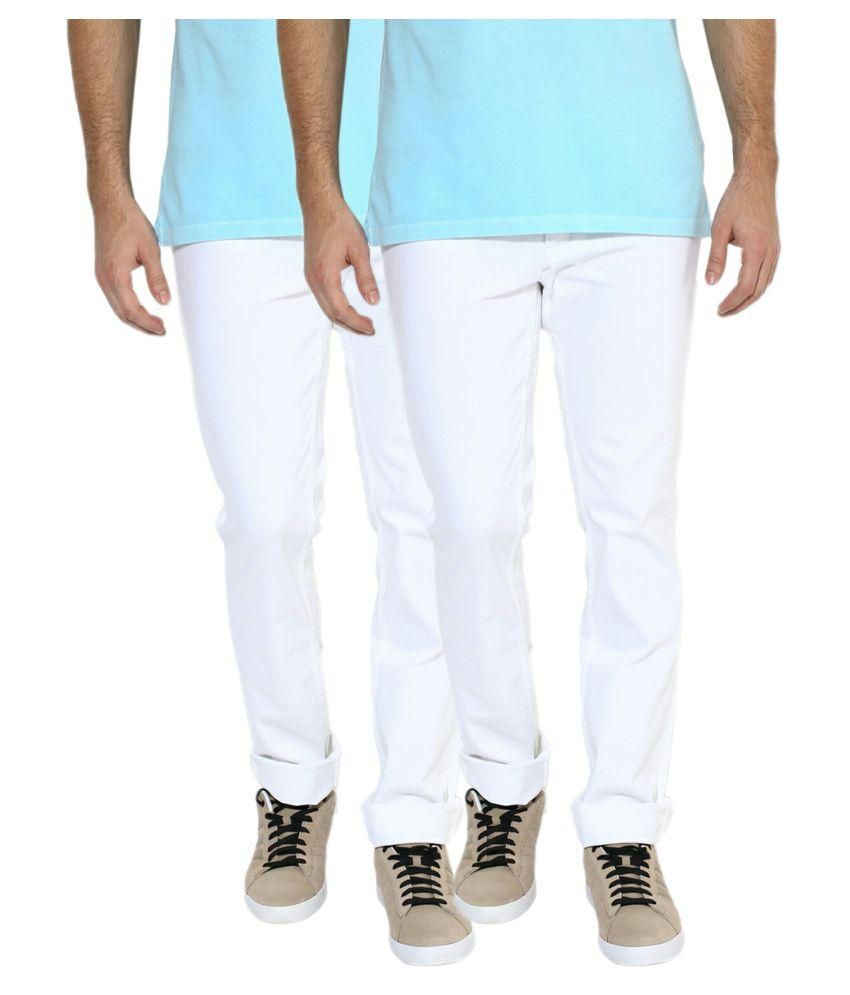 Lawson White Skinny Solid Jeans - Pack of 2