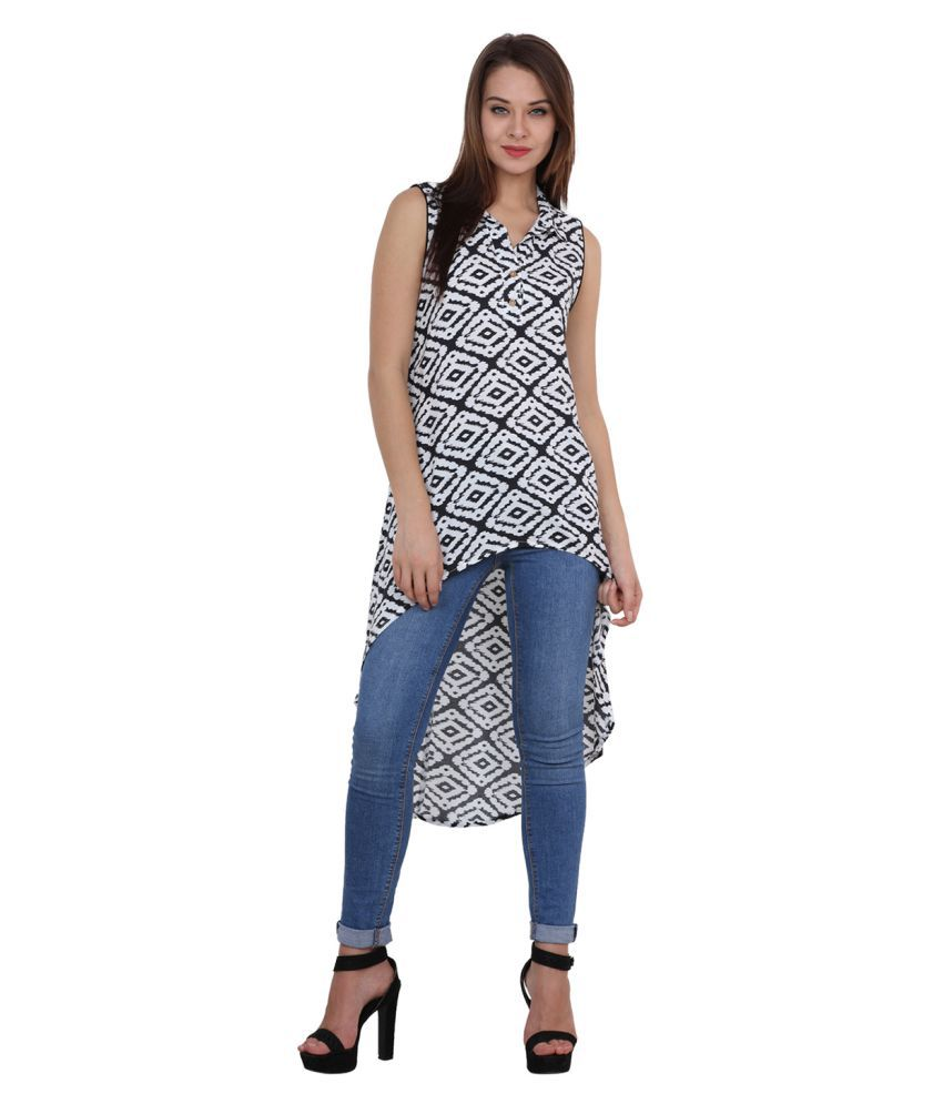 Rasada Multicoloured Cotton Asymmetrical Hemline Kurti