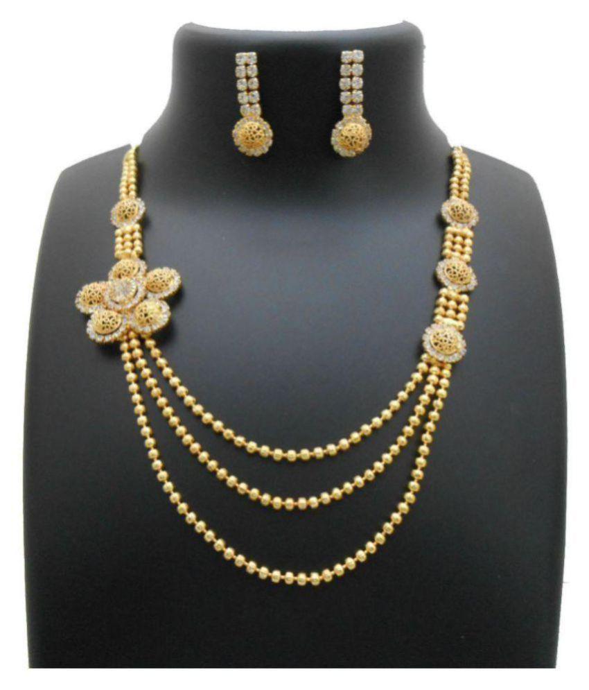 My Design Golden Alloy Necklaces Set