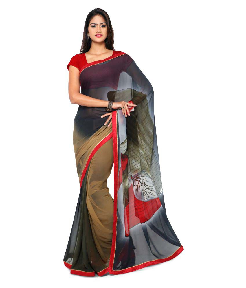 Anwesha Sarees Multicoloured Georgette Saree