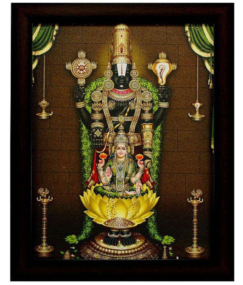 Indianara MDF Religious Paintings With Frame Single Piece